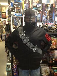 G.I Joe I Am Snake Eyes Ninja Costume Zipped Mask Zip Up Hoodie