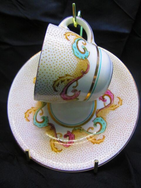 Vintage Demitasse Cup - Indian Scroll by Barratt's of Staffordshire, England