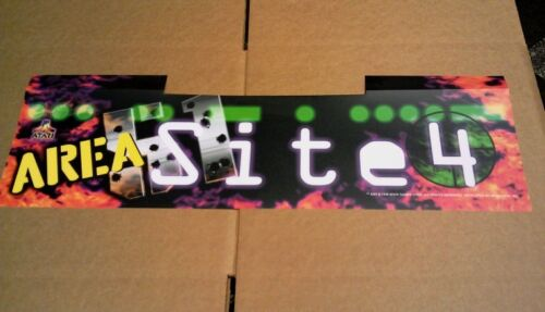 """AREA 51 SITE 4 NEW OLD STOCK MARQUEE /""""FACTORY NEW/"""" NOT REPRODUCED"""