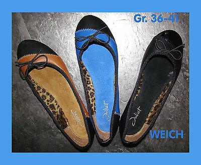 Damen Ballerinas Schuhe Pumps Weich  Gr. 36-41, schwarz,blau,camel, neu