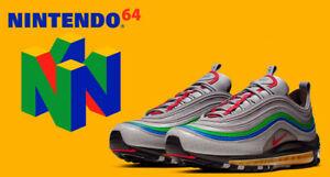 capitán apretón Cámara  Nike Air Max 97 QS Nintendo 64 N64 Atmosphere Grey MultiColor CI5012-001 SZ  10.5 | eBay