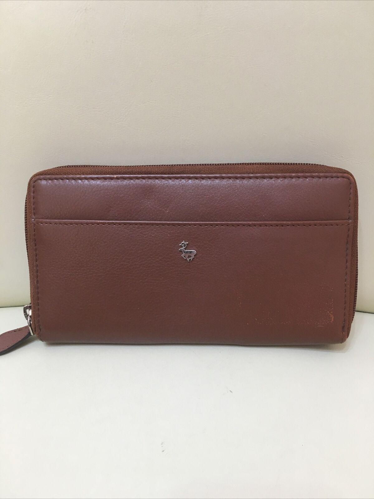 Lloyd Baker London ladies brown leather purse