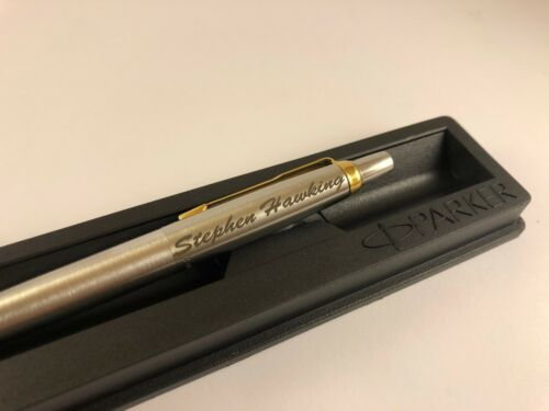Personalised Engraved Parker Jotter Steel GT Gold Trim Ball Pen Gift Box NEW