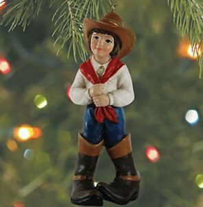 """Kurt S Adler Western Cowboy OR Cowgirl In Big Boots 4/"""" Resin Ornament"""