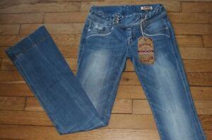 KAPORAL-5-Jeans-pour-Femme-W-24-L-34-Taille-Fr-34-NEUF-FLAIR-Ref-J064