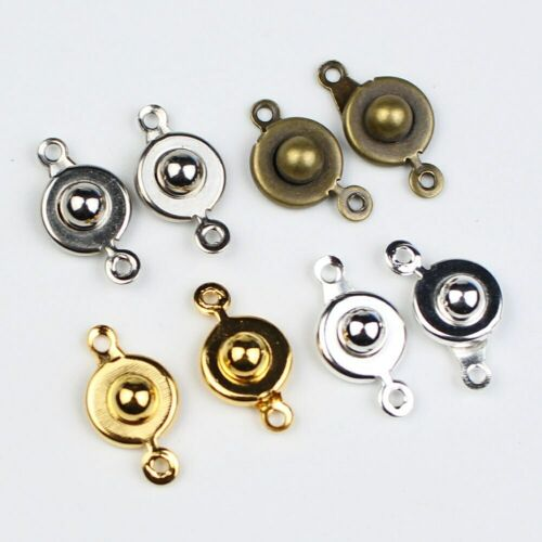 20pcs//lot Trailer Hitch Type Snap Fastener Connector Clasps for Jewelry Making