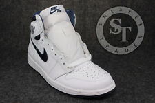 NIKE AIR JORDAN 1 ONE RETRO HIGH OG 555088-106 WHITE METALLIC NAVY DS SIZE: 10.5