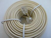 5pc. 50 Foot Rj11 Modular Phone/telephone Wire Line Flat Cord/cable, 6p4c, Ivory