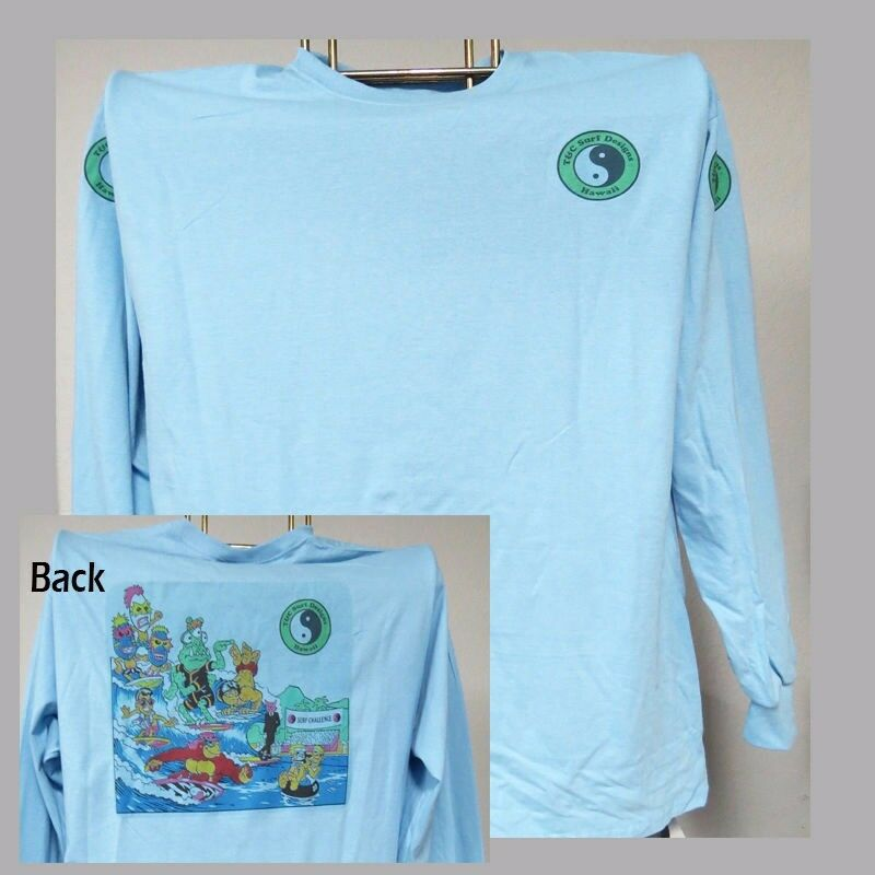 T&C,Town & Country,Hawaii Retro Thrilla,Surfing,LONG SLEEVE T-SHIRT,T-1025Ltbluee