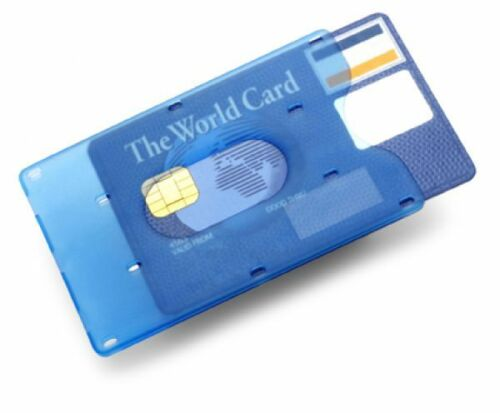 Bankkartenhülle EC Kartenhülle Kreditkartenhülle Schutzhülle für Bankkarte blau