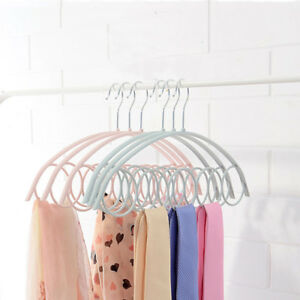 Scarf-Hanger-5-Round-Loops-Holder-Ties-Belts-Organizer-Home-Tools-Hot-1pcs