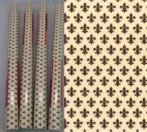 Möbelfolie Lily brown 4er Set Klebefolie Lilie je Rolle 45x200 cm Dekorfolie