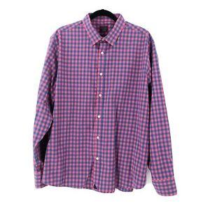 UNTUCKit-Men-039-s-Size-2XL-XXL-Checkered-Button-Down-Collard-Long-Sleeve-Shirt