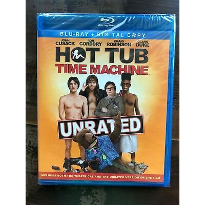 Hot Tub Time Machine (Blu-ray Disc, 2011, Unrated) New Free Ship