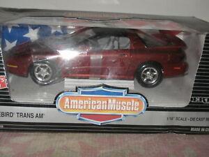 1/18 American Muscle Ertl Dark Red  Firebird Trans AM 7231DO
