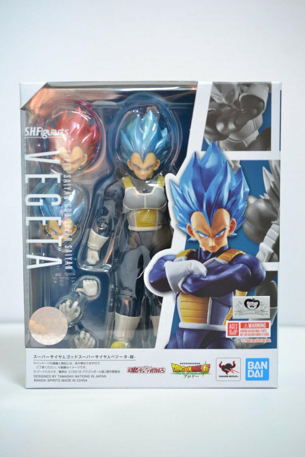 Bandai S.H. Figuarts Dragon Ball súper Saiyan Dios ssgss Vegeta Azul Nuevo En Stock