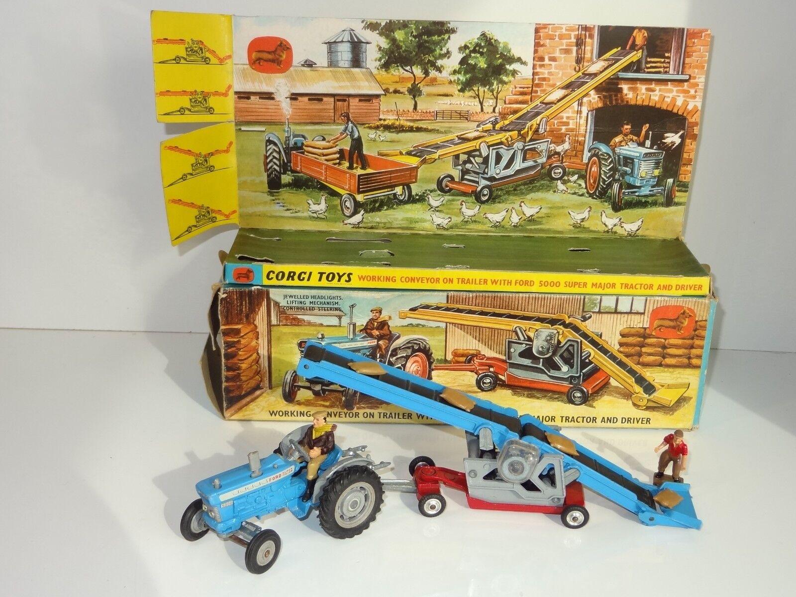 (NB) CORGI Ford 5000 Tracteur & WORKING CONVEYOR Ensemble eau-GS 47