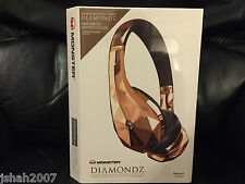 MONSTER DIAMOND TEARS DIAMONDZ ROSE GOLD LIMITED EDITION ON EAR HEADPHONES NEW