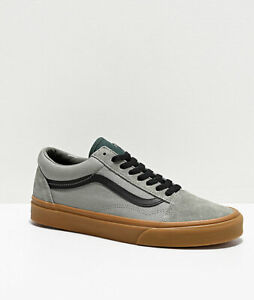 Details about Neuf Vans Old Skool Ombre Vert Chaussures de Skate Gomme  Toile Daim