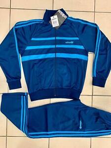 Classical Adidas mens tracking suit vintage mens model Light Blue tracksuit