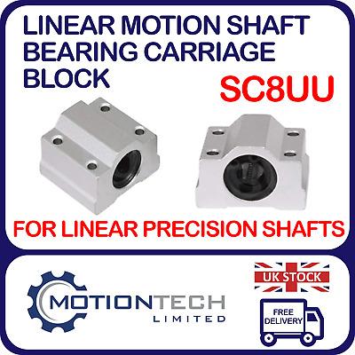 SC8UU Linear Motion Shaft Bearing Carriage Block 8mm Bore CNC Machine 3D Printer