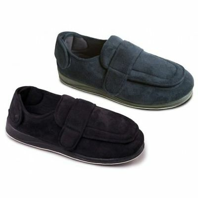 Mens Padders 'wrap' Wide Strap Slippers Black And Navy Blue G Fitting Slippers Clothing, Shoes & Accessories