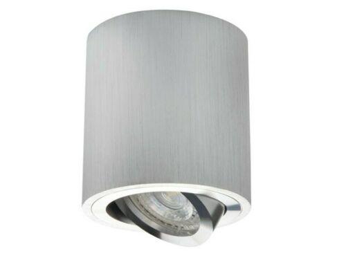 Rond Plafonnier Surface Mounted Downlight GU10 spot en aluminium brossé lampe
