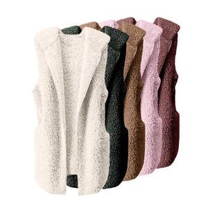 Womens-Vest-Winter-Warm-Hoodie-Outwear-Casual-Coat-Faux-Fur-Sherpa-Jacket