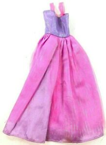 Barbie-Doll-Clothes-Purple-w-Pink-Net-Overlay-Party-Gown-Sparkles