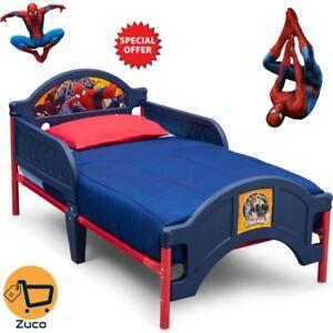 Details about Kids Spider Man Toddler Bed Bedroom Furniture For Boy Marvel  Collection Bed New