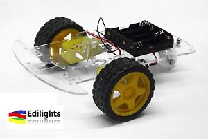 MOTORI GEAR ROBOT CAR CHASSIS AUTO 2 RUOTE CAR BODY KIT 2WD ARDUINO
