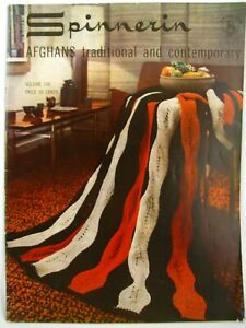 Vintage-1964-Spinnerin-Afghans-Traditional-and-Contemporary-Booklet-Volume-148