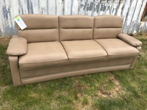 Tan Jackknife Sofa Bed With Rv Boat
