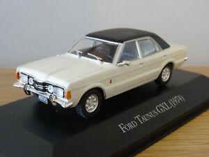 ALTAYA-IXO-Cortina-de-Ford-Taunus-Gxl-MK3-1974-Blanco-y-Negro-Coche-Modelo-LX23-1-43