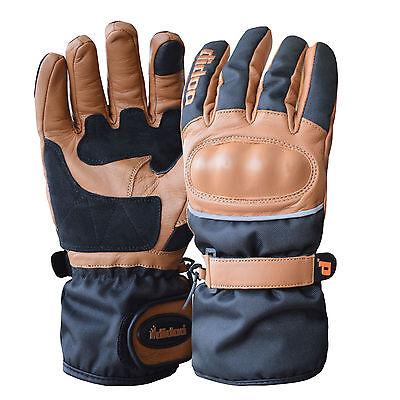 New Mens Cordura Motorcycle Leather Gloves Full Finger Waterproof Racing Bikers