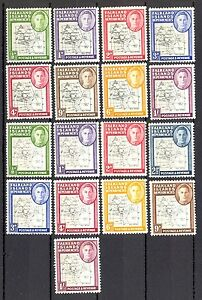 FALKLAND ISLAND - COMPLETE SERIES, TYPE I AND II, VISIBLE YELLOW STAINS ON STAMP