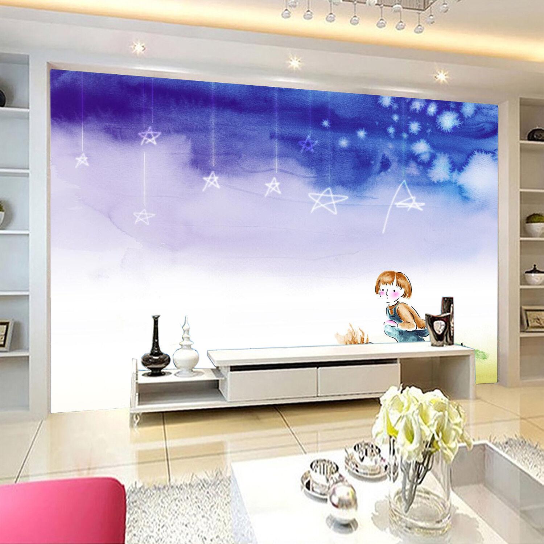 3D Himmel Mädchen Muster 8093 8093 8093 Tapete Wandgemälde Tapeten Bild Familie DE Kyra  | Wir haben von unseren Kunden Lob erhalten.  | Genial Und Praktisch  | Charmantes Design  c4c168