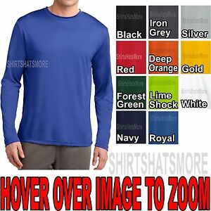 Mens-Long-Sleeve-T-shirt-Dry-Zone-Performance-Moisture-Wicking-Gym-S-2X-3X-4X