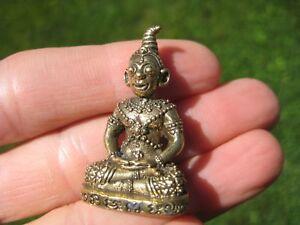Other Asian Antiques Ottone Reusi Monk Sage Thailandia Buddha Ottone Statuina Piccolo Amuleto A9 To Invigorate Health Effectively Antiques