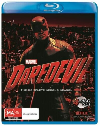 1 of 1 - DAREDEVIL COMPLETE SECOND SEASON 2 TWO Blu Ray REGION B Brand New & Sealed!