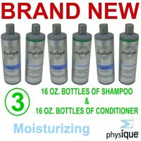 Physique Moisturizing Shampoo/conditioner,6 Each 16 Ounce Bottles,new