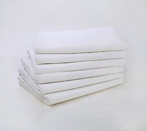 WHOLESALE OFFER !!! 12 NEW FULL SIZE FLAT SHEET T-200 PERCALE HOTEL LINEN SHEET
