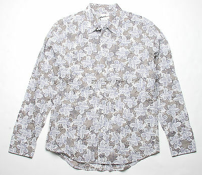 Touch of Gray N5W10AG Hause of Howe Hidden Darts Long Sleeve Shirt M