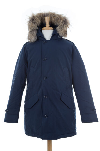 Woolrich John Rich & Bros. Men's Polar Parka Navy Size M