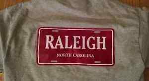 Raleigh-North-Carolina-License-Plate-T-Shirt-100-cotton-S-XL-Free-Ship