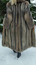 Crystal Fox Fur Coat,Size S