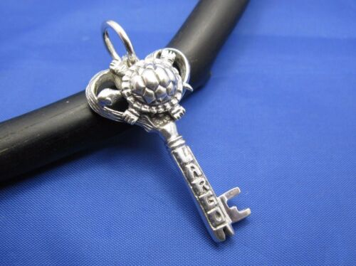 Details about  /Sterling Silver Key Largo Jewelry Key Sea Turtle Pendant Florida Keys Souvenir