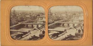 Panorama Il 7 Ponti Parigi Foto Stereo Colorati Vintage Albumina Ca 1865