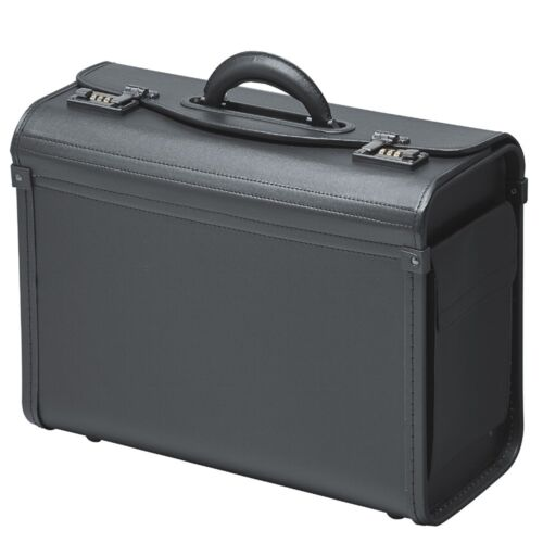 Pilotenkoffer Kunstleder Schwarz  Busfahrerkoffer Koffer Aktenkoffer