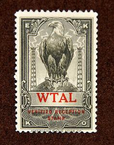 WTAL EKKO Radio Reception Stamp, Toledo Radio & Electric Co. Toledo Ohio. M, NH